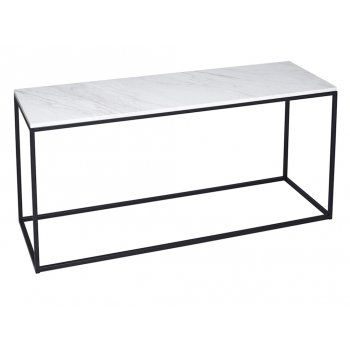 Buy White Marble And Black Metal TV Stand From Fusion Living