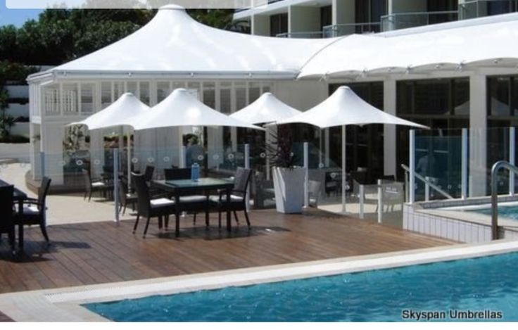 Skyspan Horizon Square Non Retractable Umbrellas  Centre column, non retractable umbrellas suitable for the harshest of conditions and wind rated to 118 kph, makes the Horizon Umbrella truly unique.