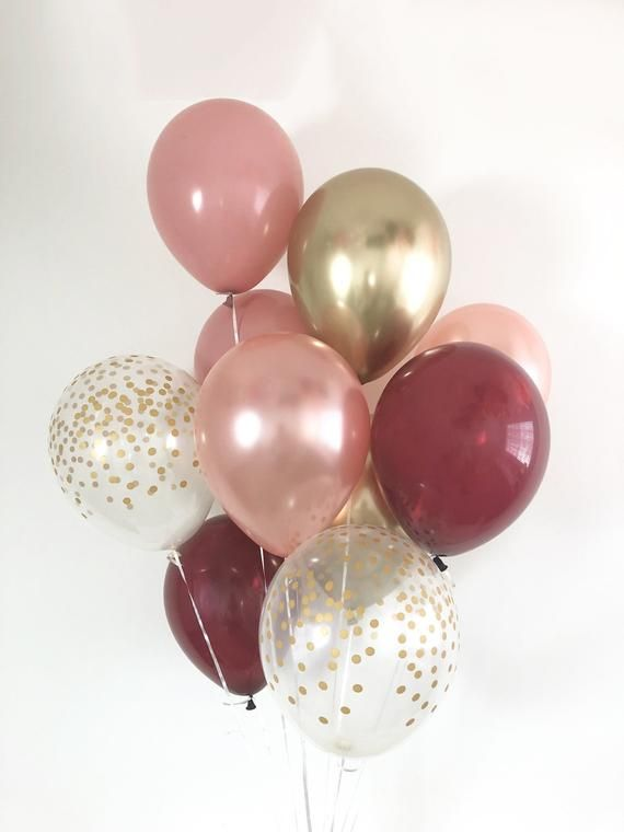 18 inch Champagne Colored Balloons with Gold /& Silver Confetti for Weddings 10 Pack Confetti Balloons Engagement Party