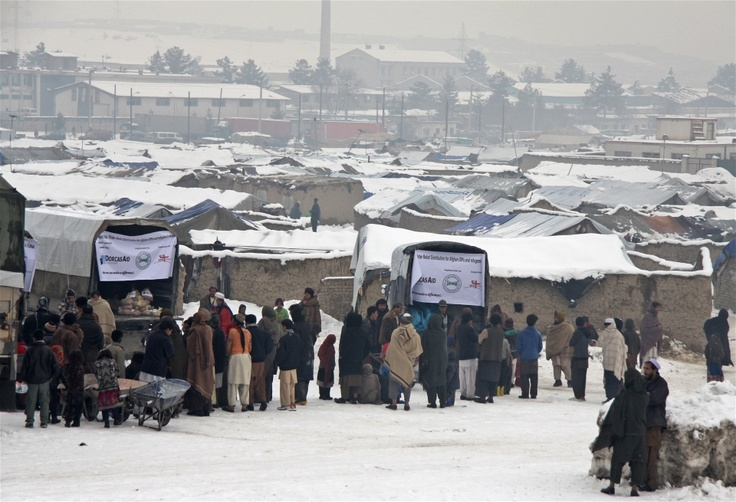 One of many informal settlement areas for IDPs in Kabul