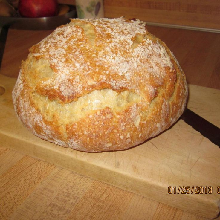Since I retired in 2010, I have been in search of the perfect Crusty Bread recipe. You know, the kind you find in great Italian restaurants that have a gorgeous crackly crust and a chewy inside, perfect for dipping in olive oil? I cannot take credit for this recipe. I actually don't remember where I found it, except it was an adaptation from a site called Simply So Good. The only thing I did differently was use bread flour instead of AP flour. If someone here posted this recipe, please ...