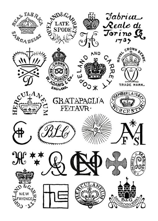"""""""Marks and Monograms on European and Oriental Pottery and Porcelain"""" (William Chaffers, 1908)"""