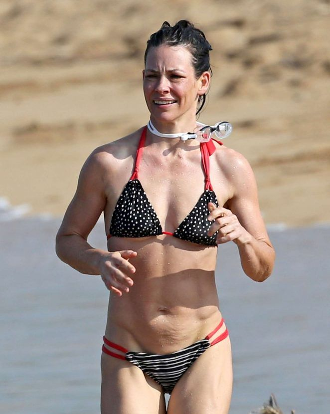 Above told bikini blue evangeline lilly picture that