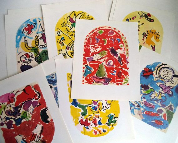 LOT of 12 First Edition Original Marc CHAGALL prints 60s