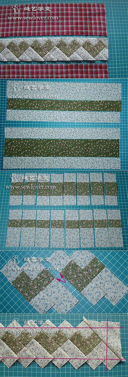 LESSON 75. SIMPLIFIED patchwork quilt.