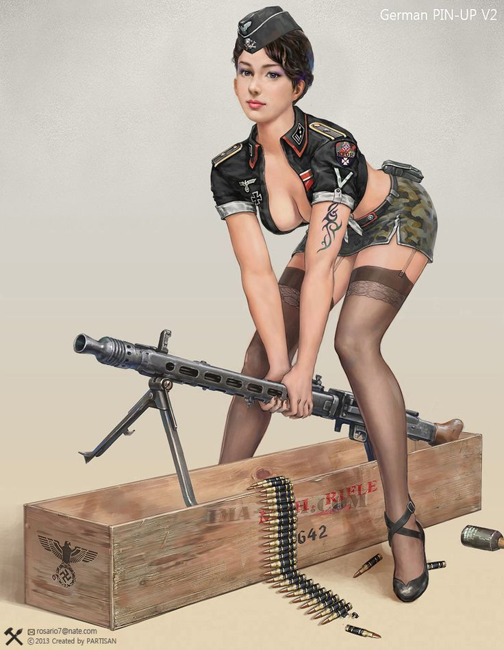 Nude army pin up think