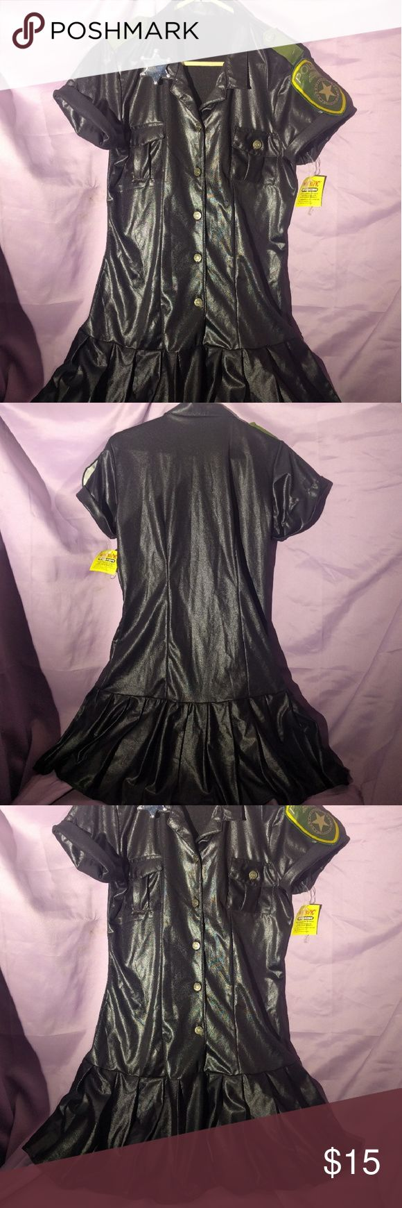 Sexy Cop police costume XL Hot topic Police cosplay L/XL fits around 12-16 based on it being just a bit small for me as a large 16. Hot Topic Dresses Mini
