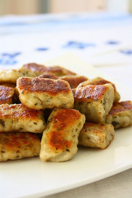 Homemade Potato Garlic Gnocchi. You can customize this however you like spice wise. They are also great in marinara sauce Use GF flour or arrowroot starch if you are gluten intolerant.