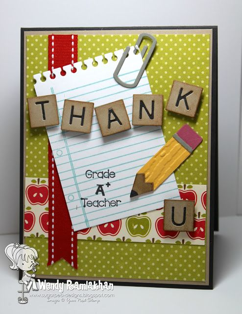 SugarPea Designs: teacher card