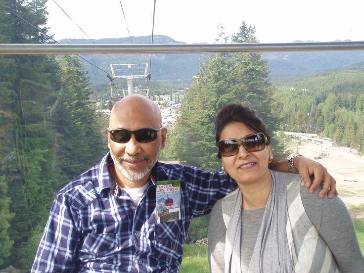 Whistler Blackcomb, Canada--with my wife Shahgul