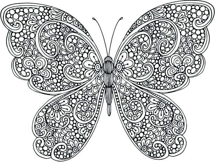 Animal Mandala Coloring Pages Butterfly Coloring Page Mandala
