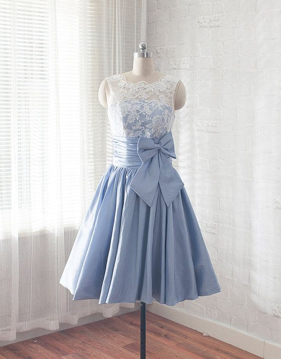 Lace prom dress short graduation dress knee length by CharmAngell
