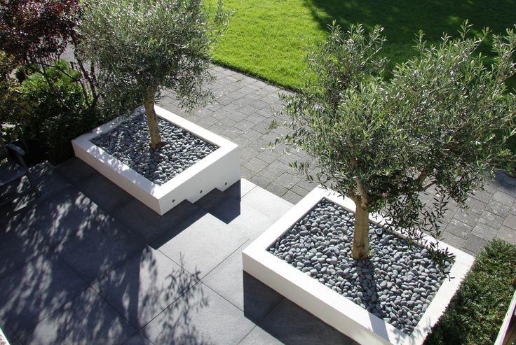 Afbeeldingsresultaat voor moderne tuin met verhoging