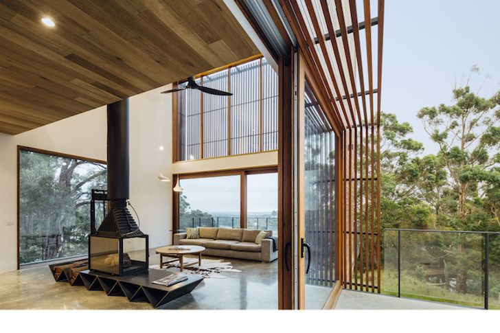 Contemporary Invermay House handsomely pairs spotted gum with ...