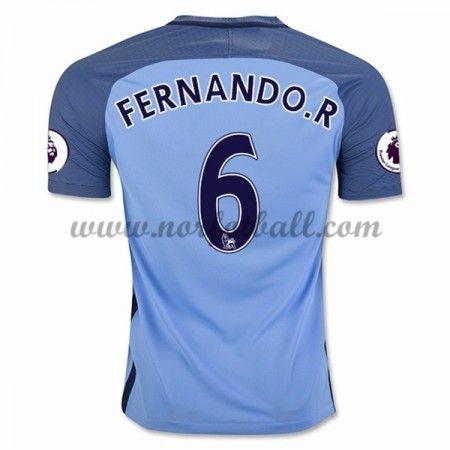 Billige Fotballdrakter Manchester City 2016-17 Fernando R. 6 Hjemme Draktsett Kortermet