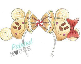 8x10- Disney World Print, Disney Ears, Disney Ears, Disney Art, magic kingdom, Disney Christmas, Disney Snack, Mickey Christmas, Gingerbread