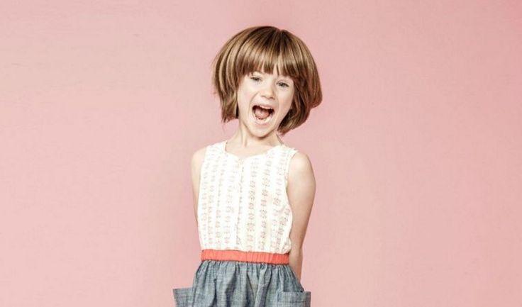 Kız Çocukları için Kısa Bob Rahat Saç Modelleri