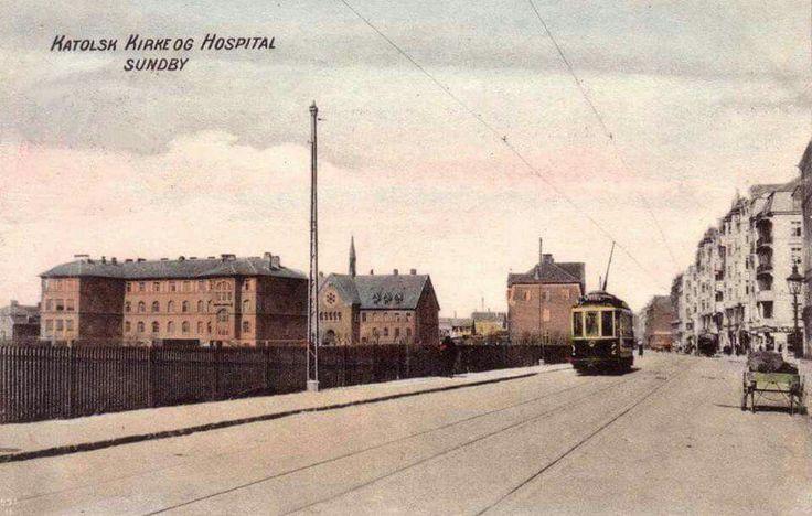Amagerbrogade og Sct Elizabeth 1909