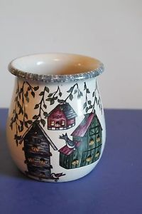 High Quality Home And Garden Party Stoneware Birdhouse Utensil Crock January 2000 | EBay