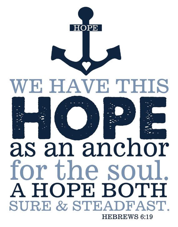 Thanksgiving Sale Bible Verse Hebrews 619 Hope by TheEducatedOwl