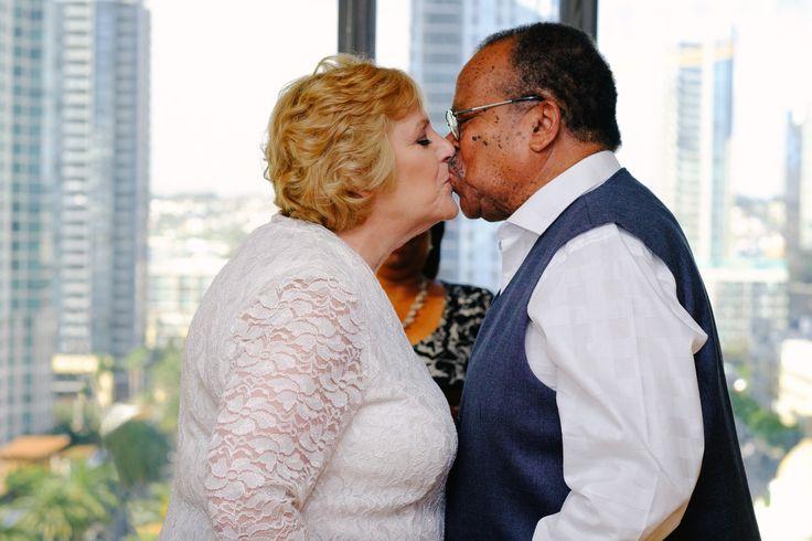 Marriage | Love | Mature San Diego | California | Kiss | Romance | Interracial wedding