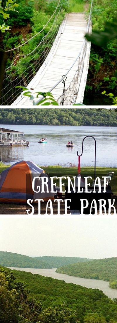 Greenleaf State Park in northeast Oklahoma features the beautiful Greenleaf Lake, historic cabins built by the CCC, tent and RV campgrounds, hiking trails and family activities.