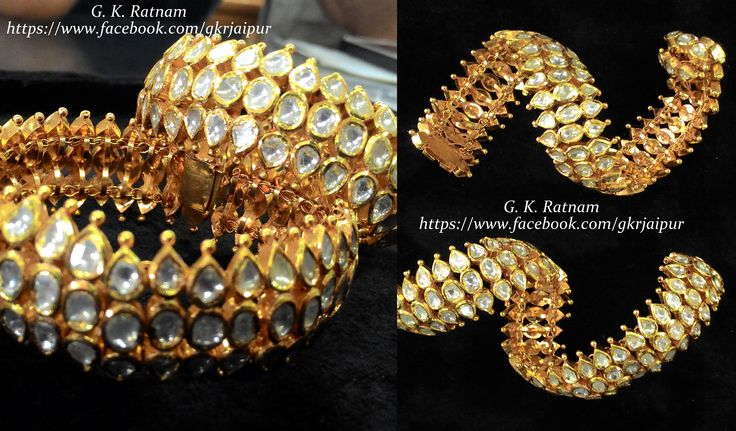 Gold & Diamond Polki Flexi Bracelet to woo them away | Bangles | Bracelets | Diamond Polki Jewelry | Bridal Jewelry | Traditional Indian Jewelry | Wedding Jewelry