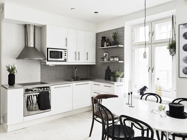 #Scandinavian Kitchen In A Duplex Apartment | Kitchen Ideas | Pinterest |  Scandinavian Kitchen, Kitchens And White Grey Kitchens