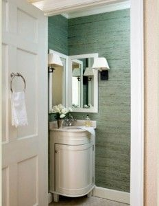 16 Bathrooms With Corner Sink! Best For Small Apartments! More Examples On  Blog!