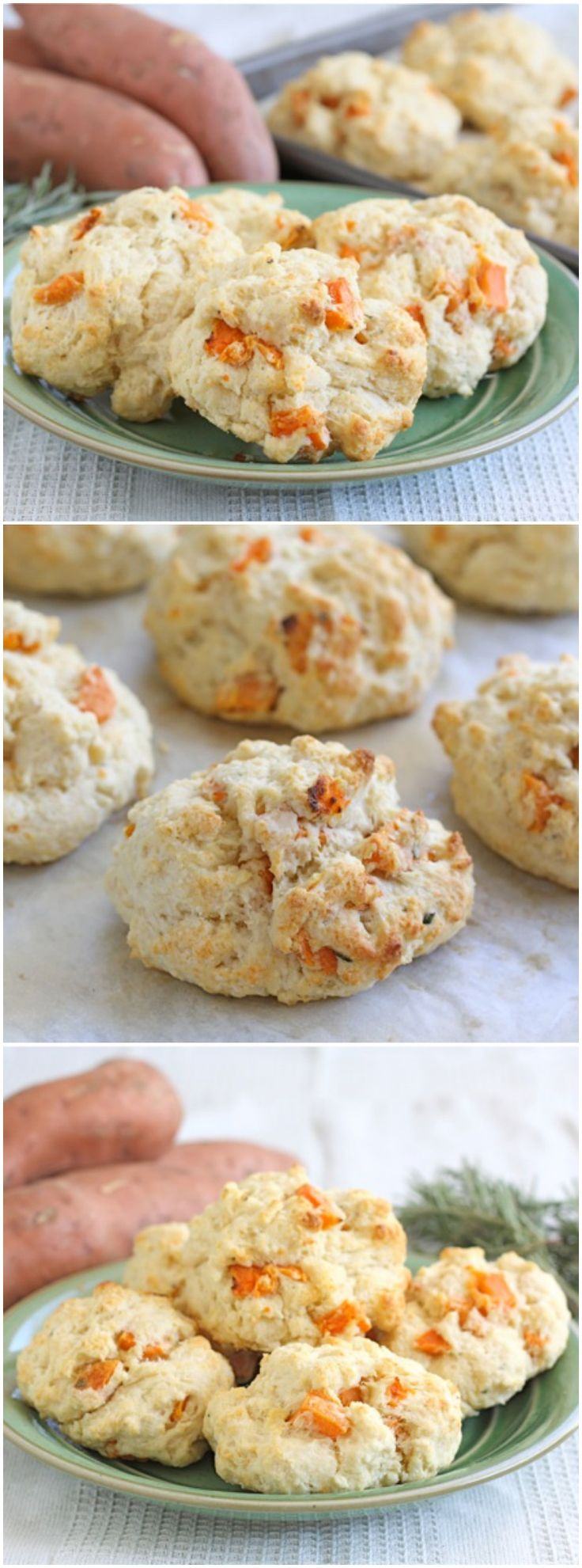 Sweet Potato Rosemary Biscuits Recipe on twopeasandtheirpod.com Love ...