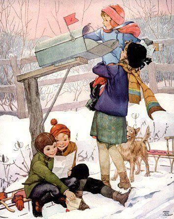 Vintage Children -  Children - Vintages Cards -  children, vintage, xmas, christmas, holidays, free, clipart,