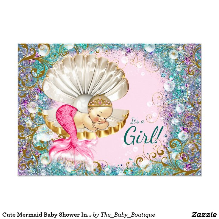 65 best Mermaid Baby Shower Invitations Ideas images on Pinterest ...