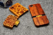 Hot Sale Retro Bamboo Wood Skull Carving Case for iPhone 5 5S Novelty Wooden…