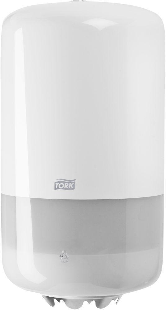 Dispenserul Tork Wiper Mini Centerfeed SCA-558000 permite o usoara utilizare, cu o singura mana