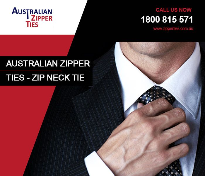 Australian Zipper Ties is a specialised supplier of custom design and stocklined zipper ties, which are catered to both school goers and office goers. It's been designed with one's comfort and less time-consumption in mind. Whether you're in hurry or getting ready in time, does not really make any difference, because zipper tie is no way a wrong choice. It makes proper Windsor Knot without much of your effort and time. Just slip it over your head and you're ready to hit the floor.