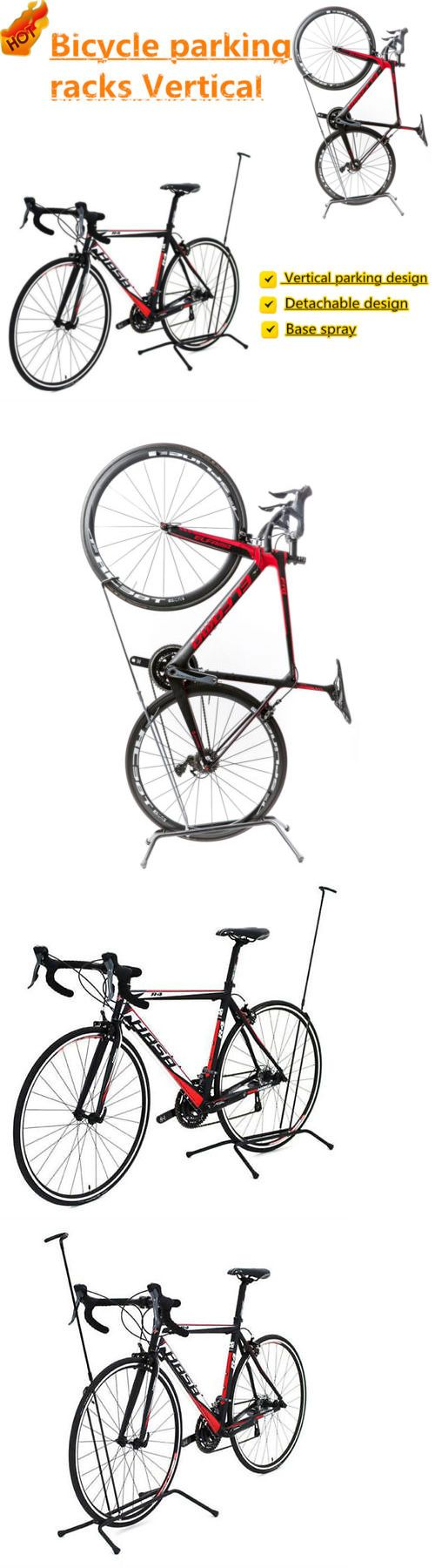 Bicycle Stands and Storage 158997: Mtb Bike Parking Racks Vertical Floor Stand Holder Detachable Bicycle Portable ! BUY IT NOW ONLY: $44.5
