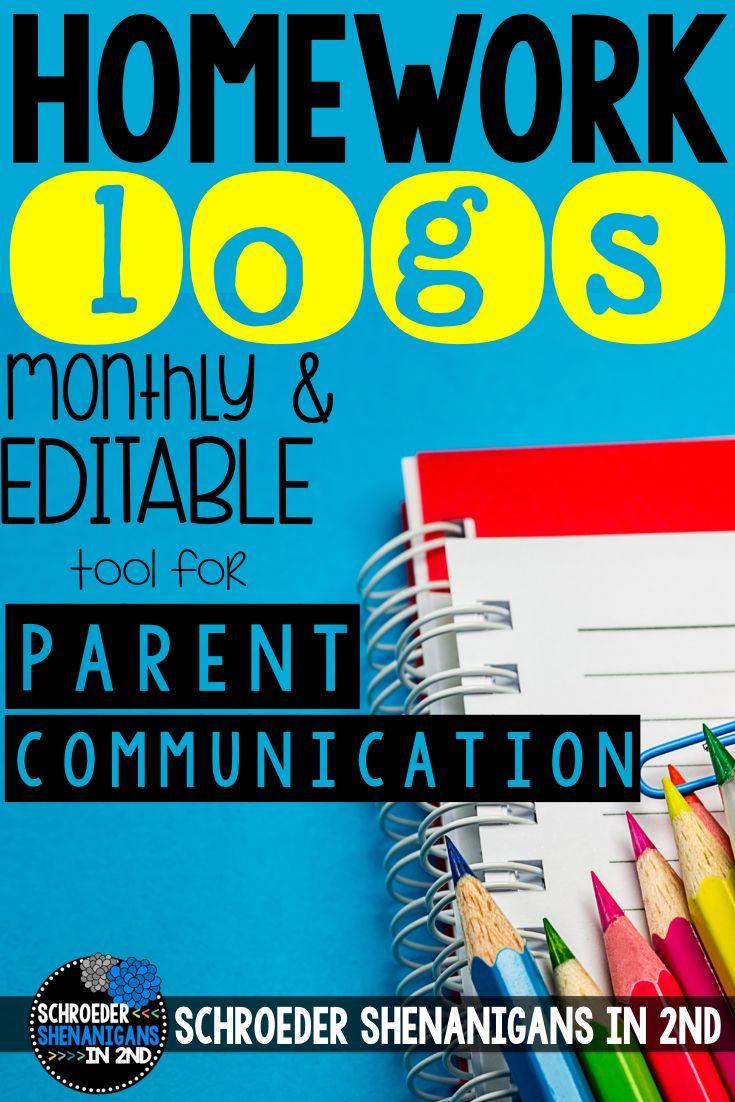 homework log pdf