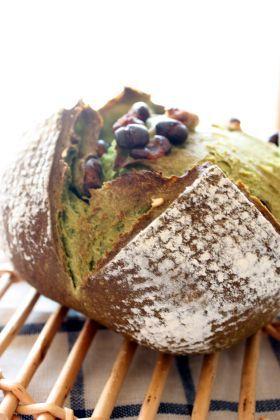 「抹茶と5色のお豆のカンパーニュ」 chi-   お菓子・パンのレシピや作り方【corecle*コレクル】