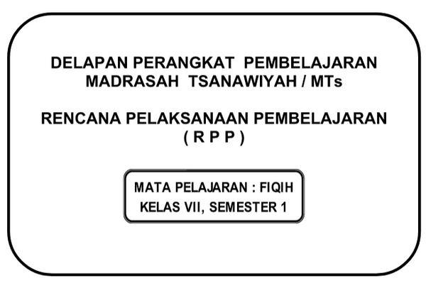 Rpp Fiqih Kelas 4 Semester 1 Pestcare Jakarta