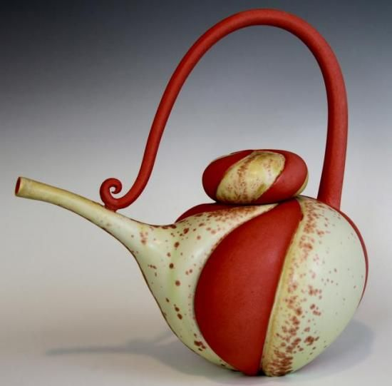 Just wow - I think this is the most gorgeous teapot I've ever seen!!  by Marsha Silverman