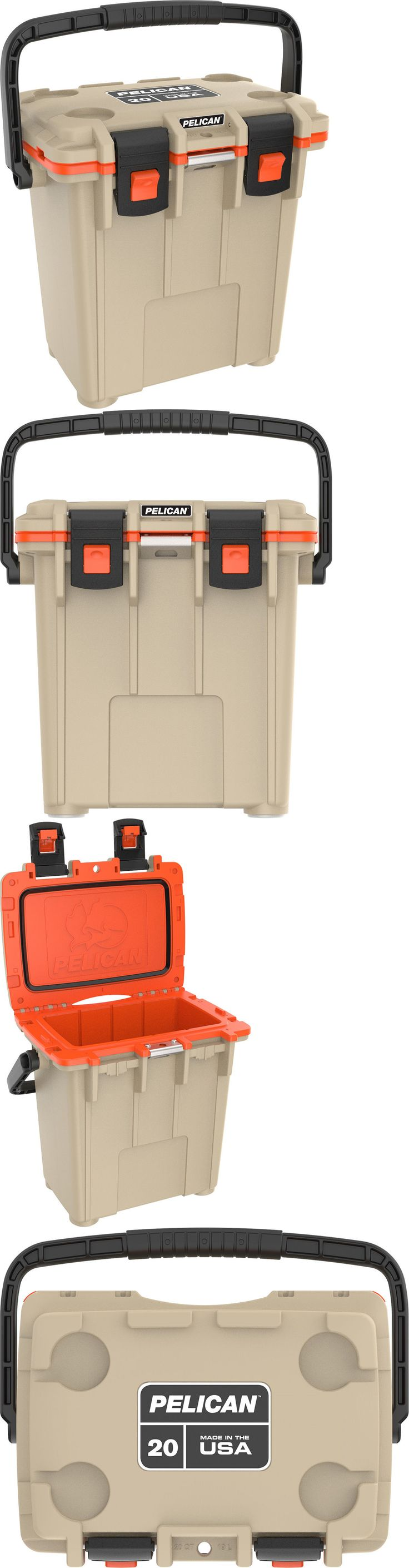 Camping Ice Boxes and Coolers 181382: Pelican Products 20 Quart Cooler Tan Orange 20Q-11Tanorg -> BUY IT NOW ONLY: $169 on eBay!
