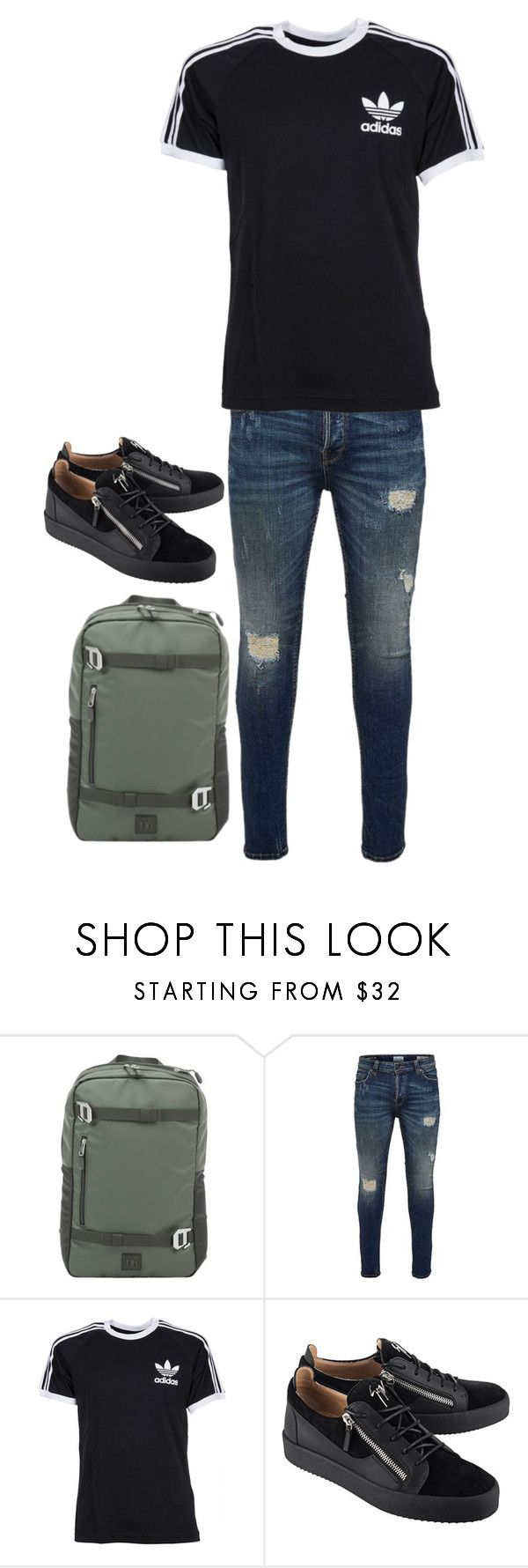 """""""Untitled #154"""" by juliapilzs on Polyvore featuring Only & Sons, adidas, Giuseppe Zanotti, men's fashion and menswear"""