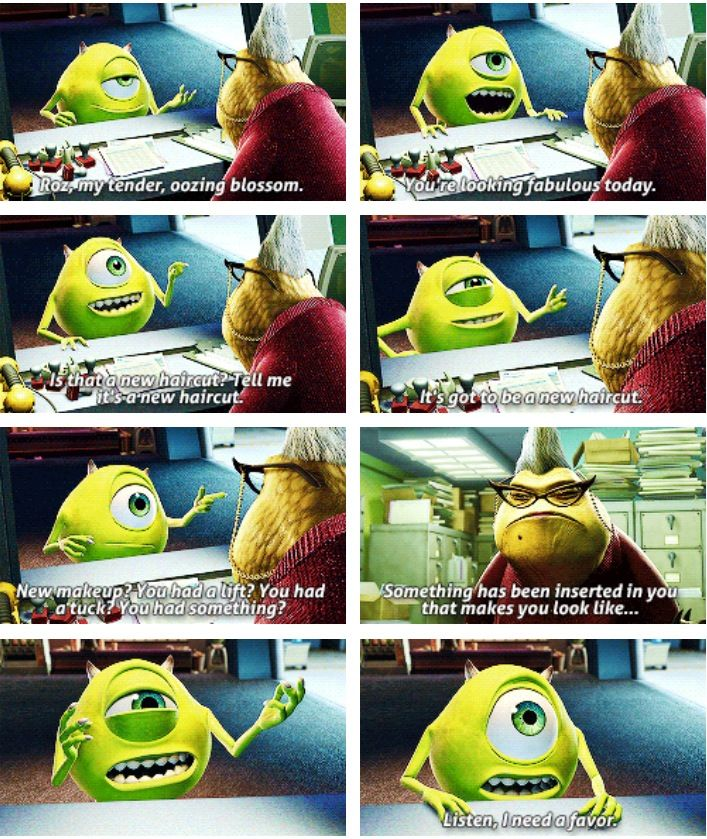 Top Five Monsters Inc Cast Roz Quotes - Circus