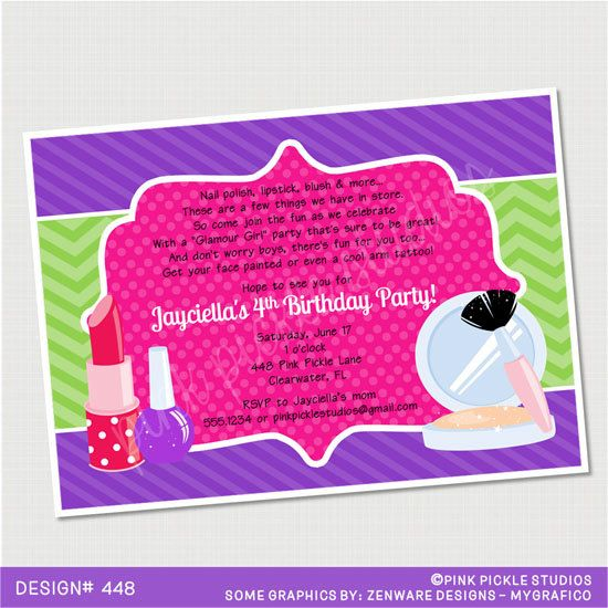 24 best Janessas Makeover Party Ideas images – Makeover Party Invitations