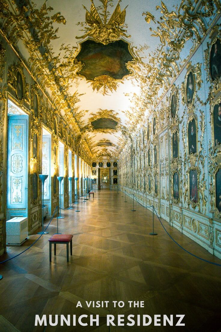 Looking for an amazing sight in Munich. Crowns, swords, art and architecture are all the Munich Residenz. Home of the Bavarian royals since the 15th century. Find it in the city centre.  Munich Residenz | Munich attractions | Things to do in Munich | Munich travel | Munich winter |   #Munich #Germany #Bavaria