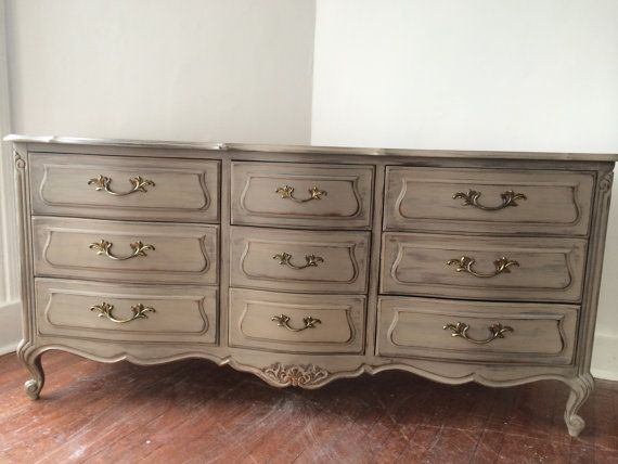 French Provincial Shabby Chic Dresser Painted In Coco
