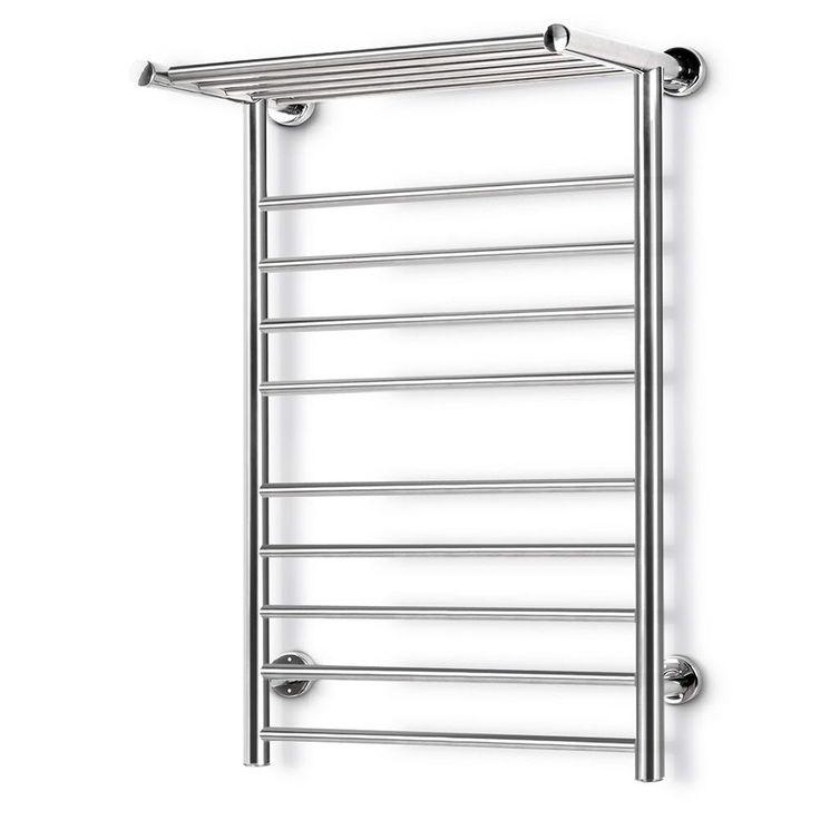 Stainless Steel Bathroom Electric Heated Ladder Towel Heater Warmer Rack 14 Bar - Large