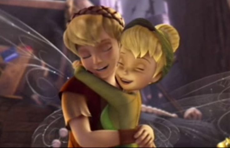 Terence & Tinkerbell. Awww! I love these two! I like her with Terence WAY more than with Peter Pan! lol :-D