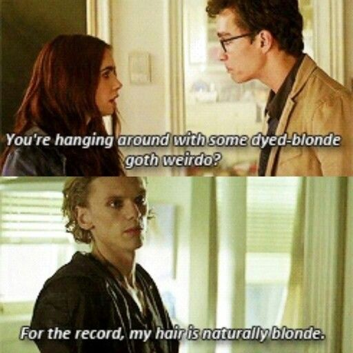 The Mortal Instruments Simon and Clary and Jace. lol I ...