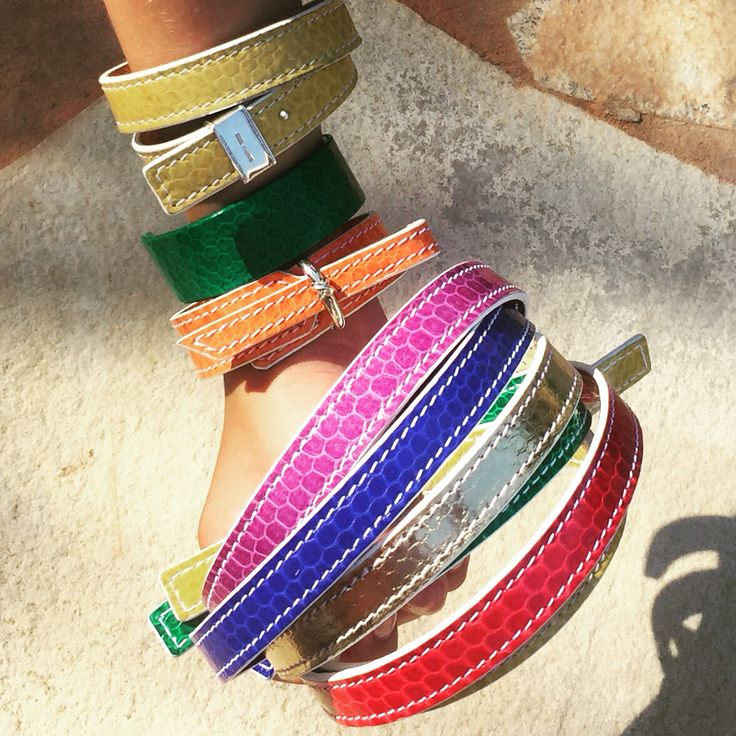 Colourful Snake and Silver Bracelets...by MMzS Jewellery Design